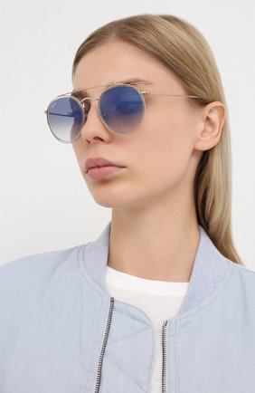 Женские солнцезащитные очки RAY-BAN голубого цвета, арт. 3647N-90683F | Фото 2