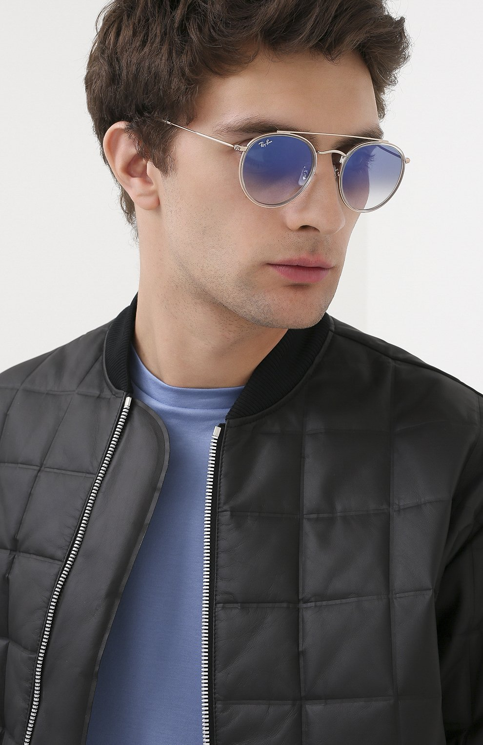 Женские солнцезащитные очки RAY-BAN голубого цвета, арт. 3647N-90683F | Фото 3