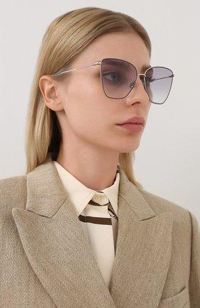 Женские солнцезащитные очки DIOR сиреневого цвета, арт. DI0RS0CIETY1 3YG | Фото 2