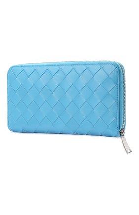 Женские кожаный кошелек BOTTEGA VENETA синего цвета, арт. 608051/VCPP2 | Фото 2