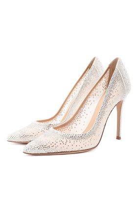 Женская комбинированные туфли rania GIANVITO ROSSI белого цвета, арт. G20130.15RIC.C0Z0F0F | Фото 1