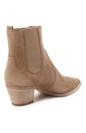Женские кожаные ботинки romney 45 GIANVITO ROSSI бежевого цвета, арт. G70343.45CU0.CASBISQ | Фото 4