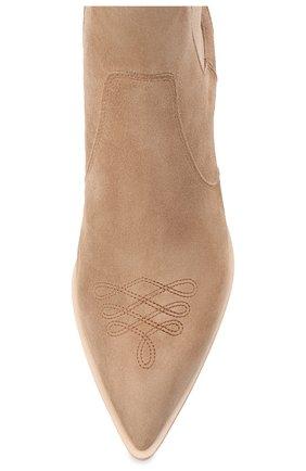 Женские кожаные ботинки romney 45 GIANVITO ROSSI бежевого цвета, арт. G70343.45CU0.CASBISQ | Фото 5