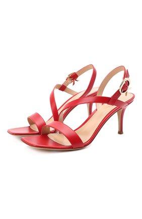 Женские кожаные босоножки alesia GIANVITO ROSSI красного цвета, арт. G31742.70RIC.VITTABS | Фото 1