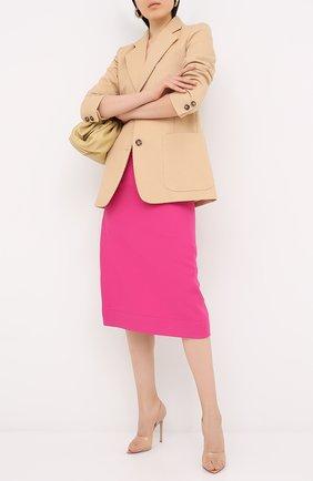 Женские комбинированные туфли bree GIANVITO ROSSI светло-розового цвета, арт. G61519.15RIC.GSVNUPE | Фото 2