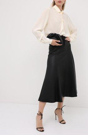 Женские комбинированные босоножки montecarlo GIANVITO ROSSI черного цвета, арт. G61522.15RIC.CWPNENE | Фото 2
