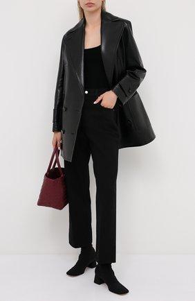 Женские текстильные ботильоны ronde 45 GIANVITO ROSSI черного цвета, арт. G73423.45RIC.0SANER0 | Фото 2