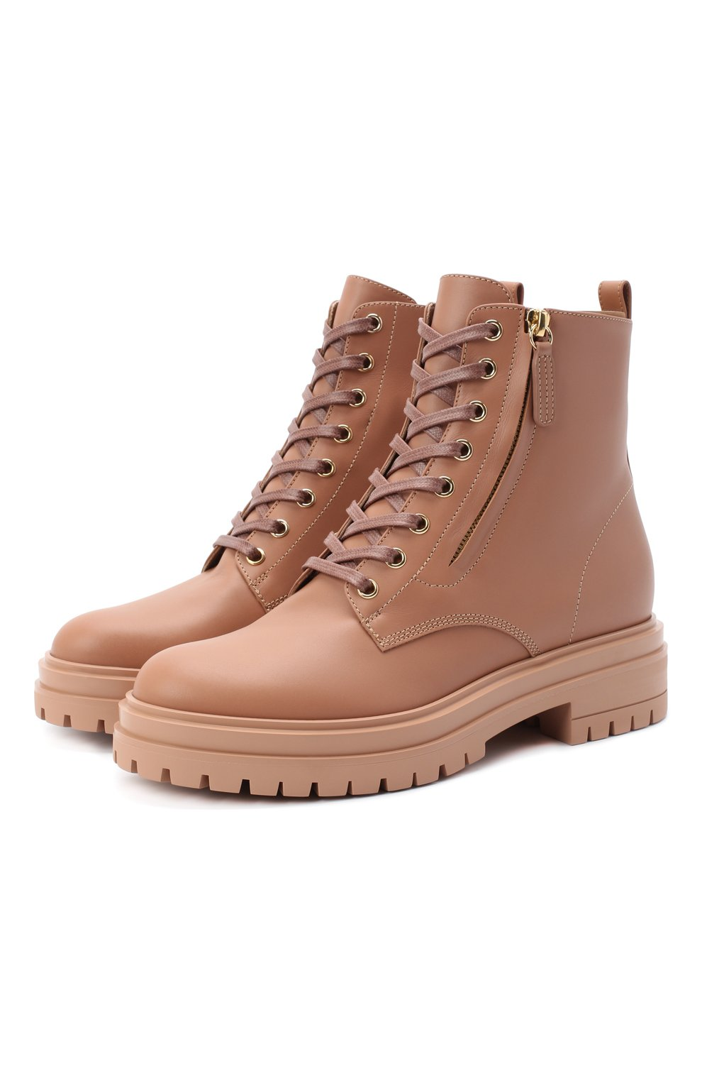 Женские кожаные ботинки turon GIANVITO ROSSI бежевого цвета, арт. G73432.20G0M.CLNPRAL | Фото 1