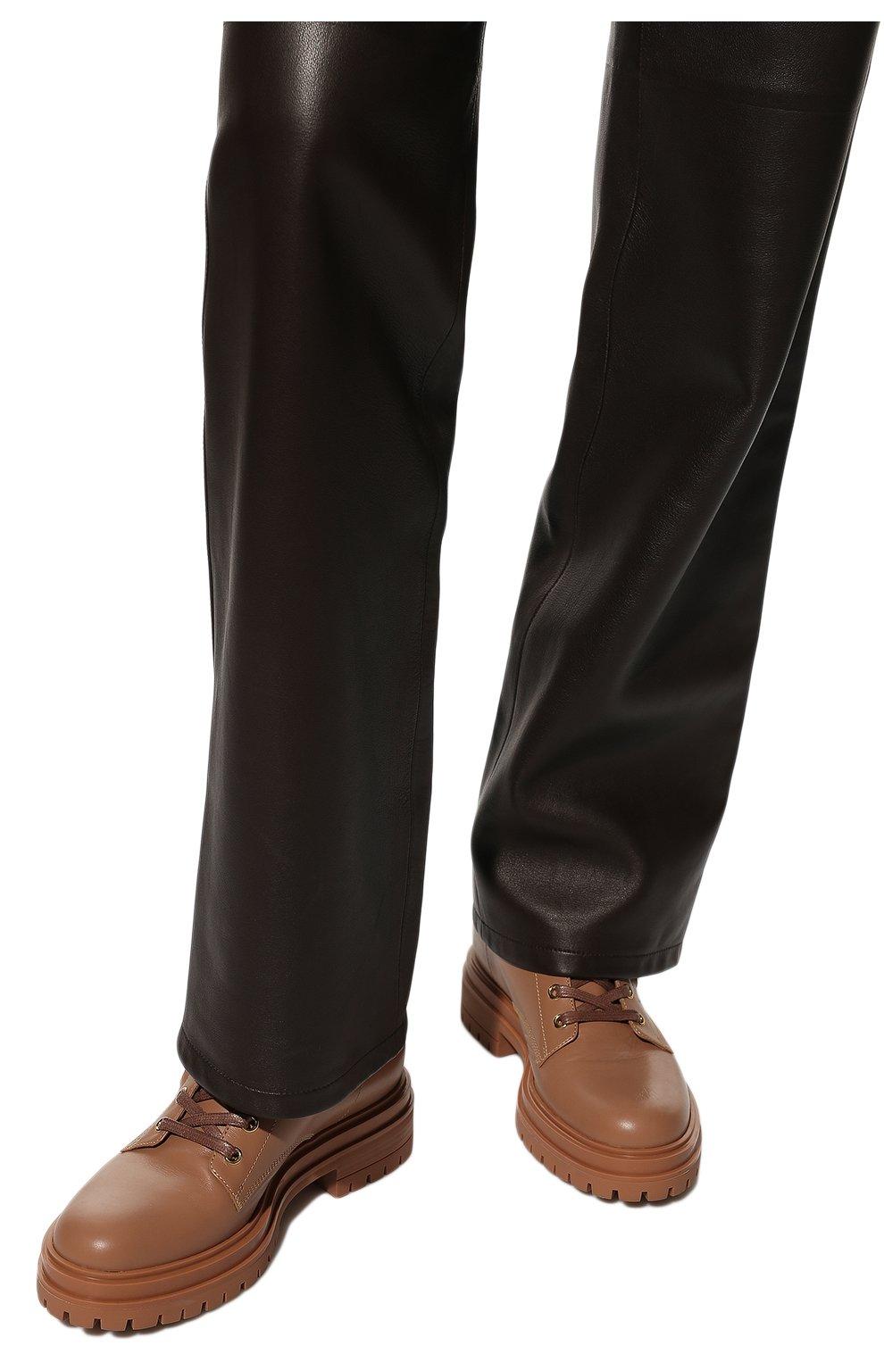 Женские кожаные ботинки turon GIANVITO ROSSI бежевого цвета, арт. G73432.20G0M.CLNPRAL | Фото 3