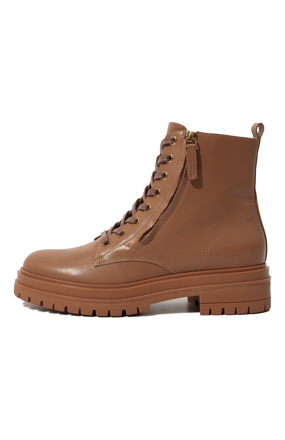 Женские кожаные ботинки turon GIANVITO ROSSI бежевого цвета, арт. G73432.20G0M.CLNPRAL | Фото 4