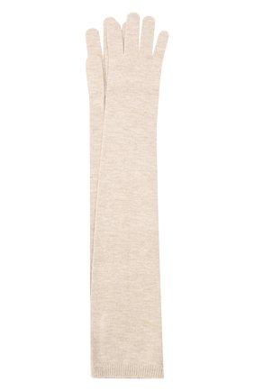 Женские перчатки из смеси кашемира и вискозы BRUNELLO CUCINELLI бежевого цвета, арт. M9A850189P | Фото 1