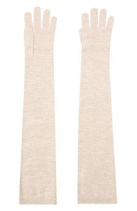 Женские перчатки из смеси кашемира и вискозы BRUNELLO CUCINELLI бежевого цвета, арт. M9A850189P | Фото 2