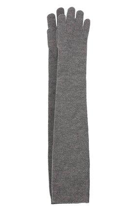 Женские перчатки из смеси кашемира и вискозы BRUNELLO CUCINELLI серого цвета, арт. M9A850189P | Фото 1