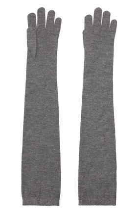 Женские перчатки из смеси кашемира и вискозы BRUNELLO CUCINELLI серого цвета, арт. M9A850189P | Фото 2