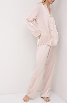 Женская шелковая пижама LA PERLA светло-розового цвета, арт. 0020288 | Фото 1