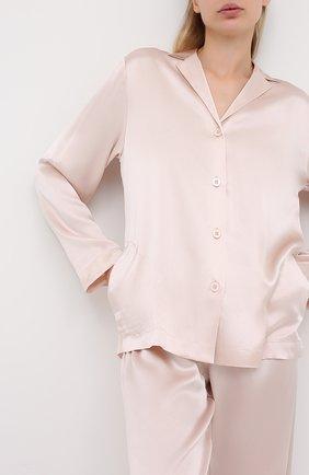 Женская шелковая пижама LA PERLA светло-розового цвета, арт. 0020288 | Фото 2