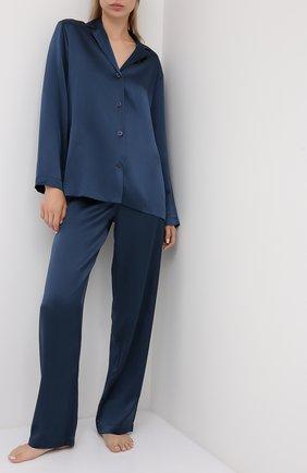 Женская шелковая пижама LA PERLA синего цвета, арт. 0020288 | Фото 1