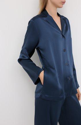 Женская шелковая пижама LA PERLA синего цвета, арт. 0020288 | Фото 2