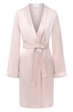 Женский шелковый халат LA PERLA светло-розового цвета, арт. 0020293/C0 | Фото 1