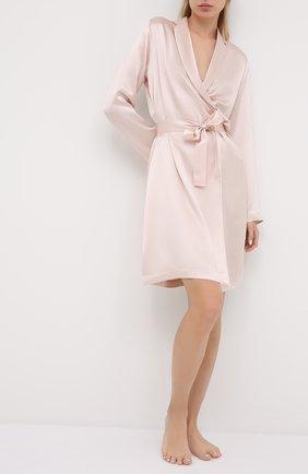 Женский шелковый халат LA PERLA светло-розового цвета, арт. 0020293/C0 | Фото 2