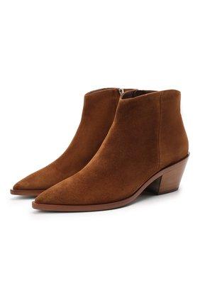Женские замшевые ботинки kazak GIANVITO ROSSI светло-коричневого цвета, арт. G05655.45CU0.CASTEXA | Фото 1
