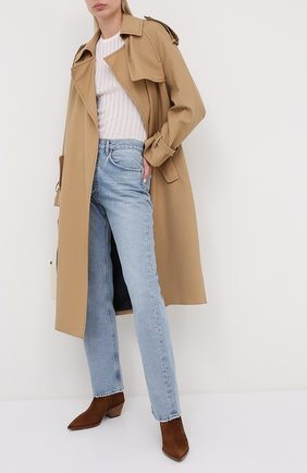 Женские замшевые ботинки kazak GIANVITO ROSSI светло-коричневого цвета, арт. G05655.45CU0.CASTEXA | Фото 2