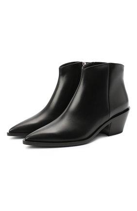 Женские кожаные ботинки kazak GIANVITO ROSSI черного цвета, арт. G05655.45CU0.VITNER0 | Фото 1