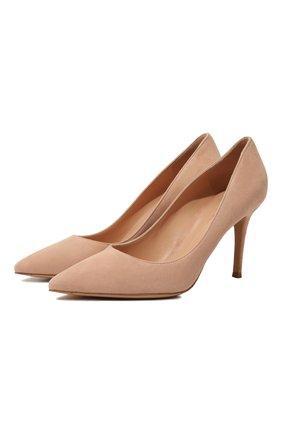 Женская замшевые туфли gianvito 85 GIANVITO ROSSI бежевого цвета, арт. G24580.85RIC.CAMPEAH | Фото 1