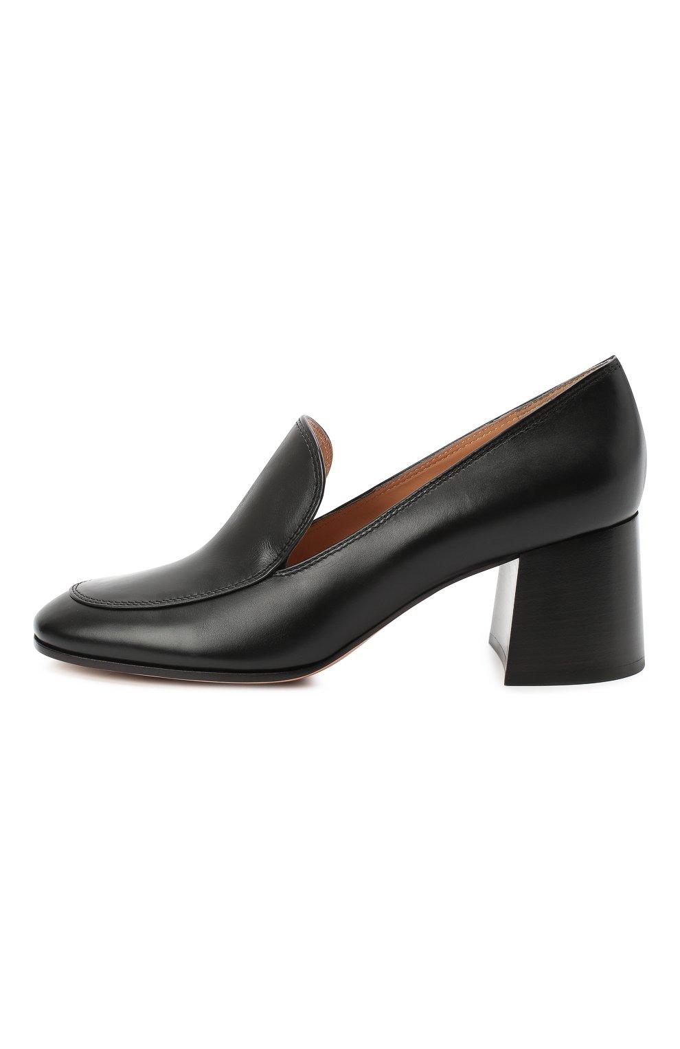 Женские кожаные туфли GIANVITO ROSSI черного цвета, арт. G25187.60CU0.VITNER0 | Фото 3