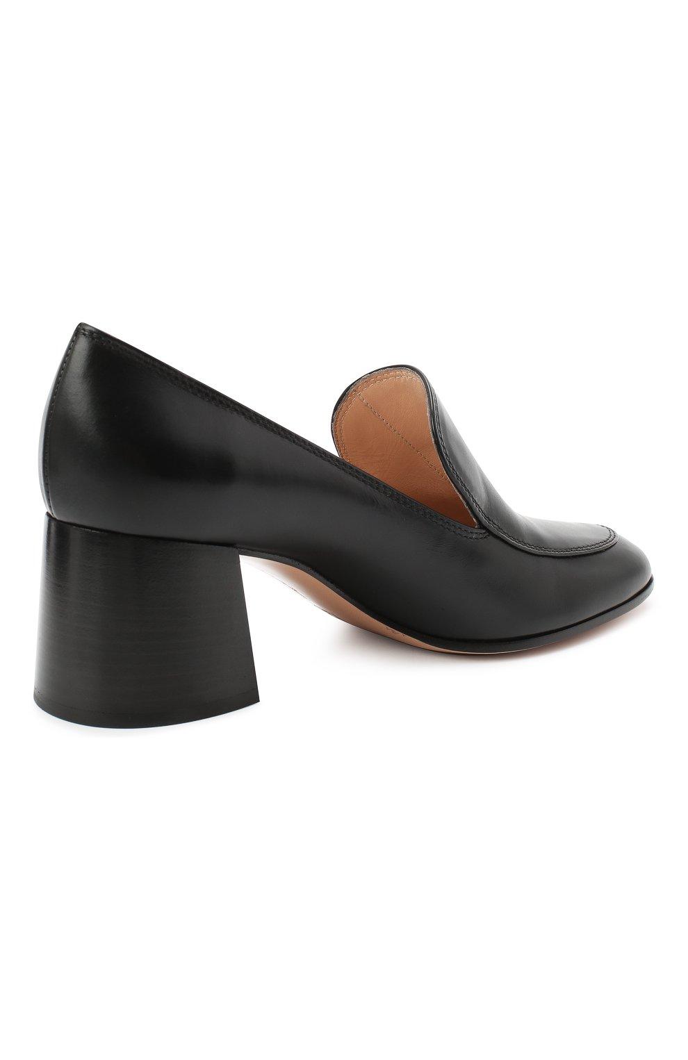 Женские кожаные туфли GIANVITO ROSSI черного цвета, арт. G25187.60CU0.VITNER0 | Фото 4