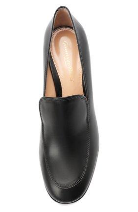 Женские кожаные туфли GIANVITO ROSSI черного цвета, арт. G25187.60CU0.VITNER0 | Фото 5