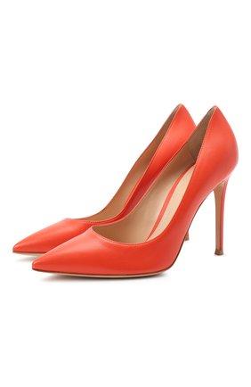 Женская кожаные туфли gianvito 105 GIANVITO ROSSI оранжевого цвета, арт. G28470.15RIC.NAPCHAY | Фото 1