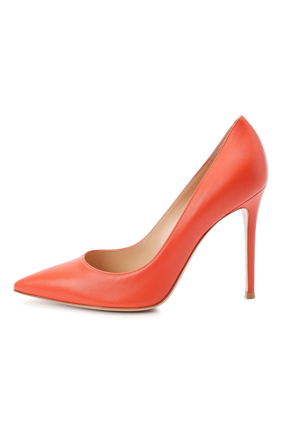 Женские кожаные туфли gianvito 105 GIANVITO ROSSI оранжевого цвета, арт. G28470.15RIC.NAPCHAY | Фото 3