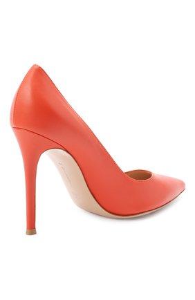 Женские кожаные туфли gianvito 105 GIANVITO ROSSI оранжевого цвета, арт. G28470.15RIC.NAPCHAY | Фото 4