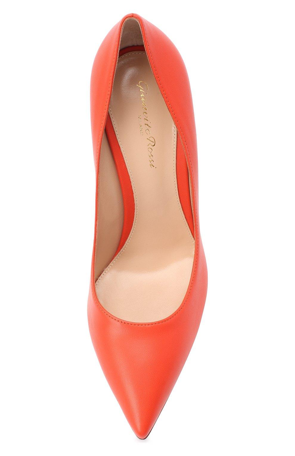 Женские кожаные туфли gianvito 105 GIANVITO ROSSI оранжевого цвета, арт. G28470.15RIC.NAPCHAY | Фото 5