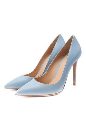 Женские кожаные туфли gianvito 105 GIANVITO ROSSI голубого цвета, арт. G28470.15RIC.NAPST0W | Фото 1
