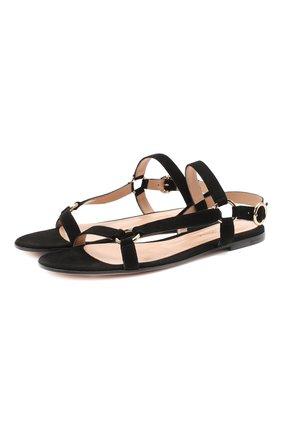 Замшевые сандалии | Фото №1