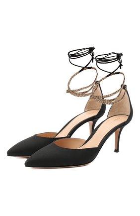 Женская текстильные туфли kira d'orsay 70 GIANVITO ROSSI черного цвета, арт. G40137.70RIC.CXNNENE | Фото 1