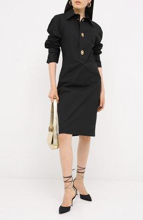 Женская текстильные туфли kira d'orsay 70 GIANVITO ROSSI черного цвета, арт. G40137.70RIC.CXNNENE | Фото 2