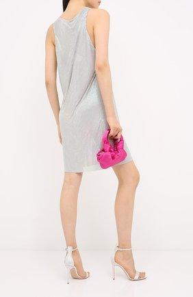 Женские текстильные босоножки glam GIANVITO ROSSI белого цвета, арт. G61066.15RIC.RASBIAN | Фото 2