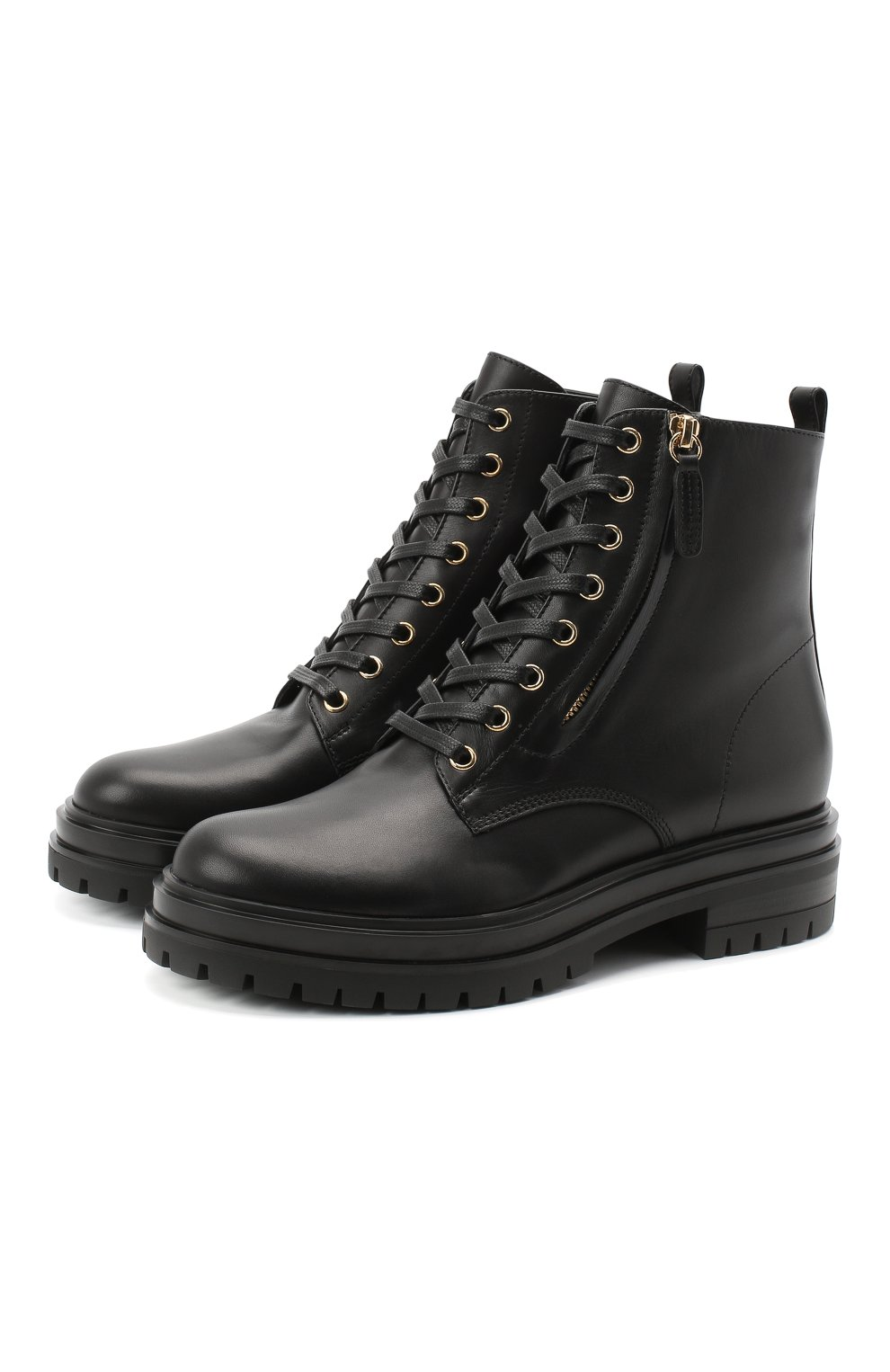 Женские кожаные ботинки turon GIANVITO ROSSI черного цвета, арт. G73432.20G0M.CLNNER0   Фото 1