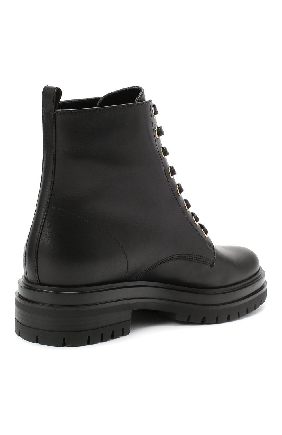 Женские кожаные ботинки turon GIANVITO ROSSI черного цвета, арт. G73432.20G0M.CLNNER0   Фото 4