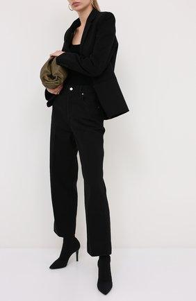 Женские текстильные ботильоны GIANVITO ROSSI черного цвета, арт. G73582.85RIC.0SANER0 | Фото 2