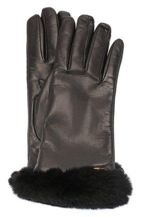 Женские кожаные перчатки VALENTINO черного цвета, арт. UW2GDA21/AJF | Фото 1