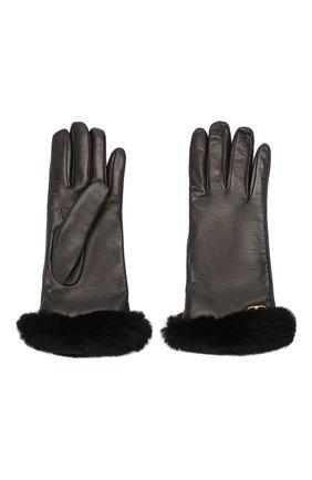 Женские кожаные перчатки VALENTINO черного цвета, арт. UW2GDA21/AJF | Фото 2