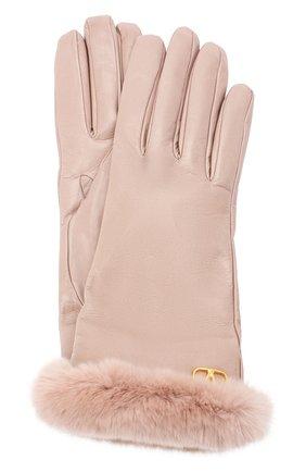 Женские кожаные перчатки VALENTINO бежевого цвета, арт. UW2GDA21/AJF | Фото 1