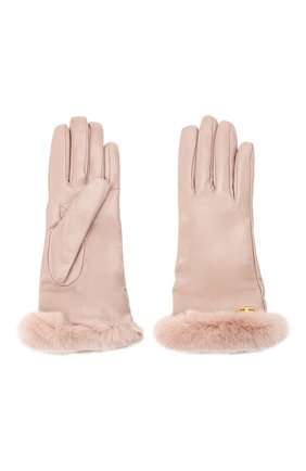 Женские кожаные перчатки VALENTINO бежевого цвета, арт. UW2GDA21/AJF | Фото 2