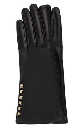 Женские кожаные перчатки VALENTINO черного цвета, арт. UW2GDA16/NAP | Фото 1