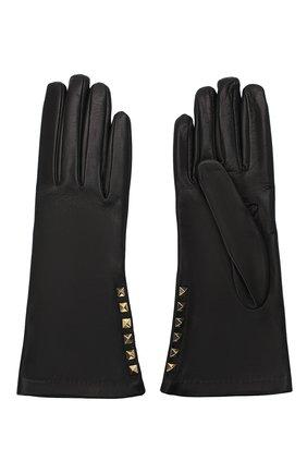 Женские кожаные перчатки VALENTINO черного цвета, арт. UW2GDA16/NAP | Фото 2