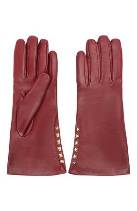 Женские кожаные перчатки VALENTINO бордового цвета, арт. UW2GDA16/NAP | Фото 2
